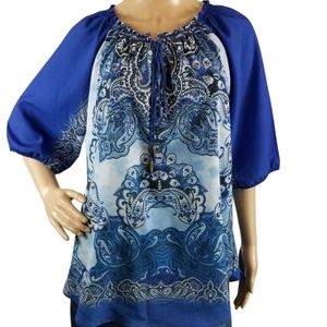 NEW DIRECTION Peasant Blouse Size XL
